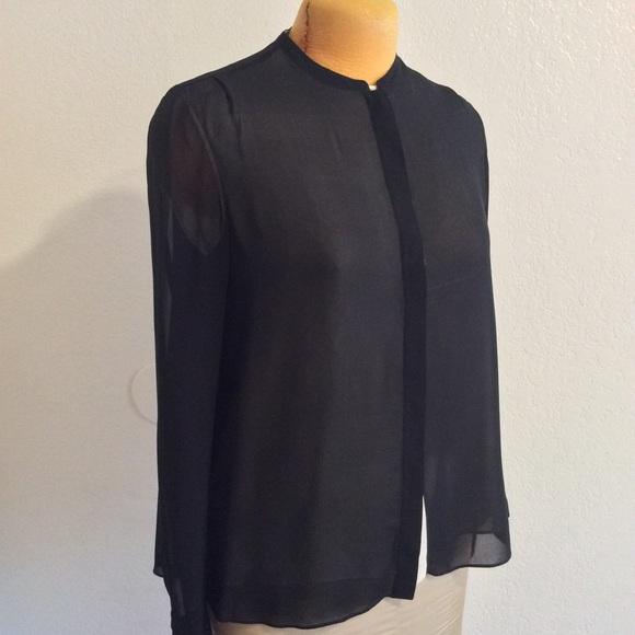 655c547b487b0 VINCE. Silk double layer blouse